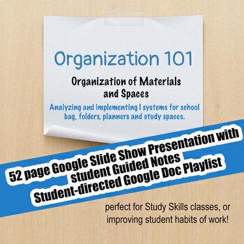 Organization 101 #7 Organizing Materials & Spaces; Executive Functioning;