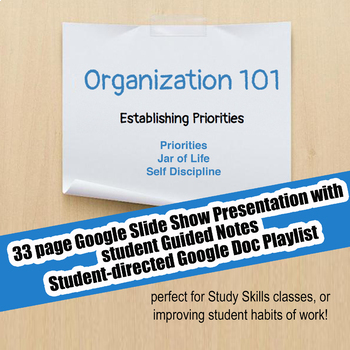 Organization 101 #2 Establishing Priorities; Executive Functioning; Study Skill