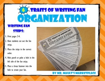 [Organization] 6 Traits of Writing Rubric Fan- Reference Tool for Full Year Use