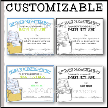 Organization Award- Queen/King of Organization Award- Editable!