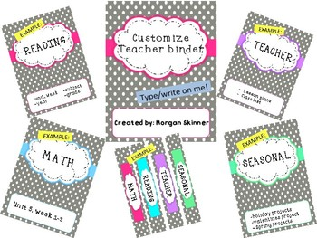 Organization Binder for teachers, students, or substitutes