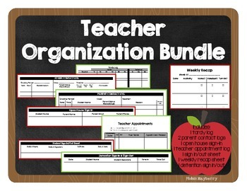 Organization Bundle: parent contact, tardy, open house, sign-in, + more logs