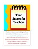Organization Cards For Busy Teachers