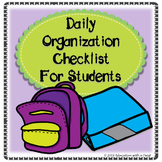 Organization Checklist For Students