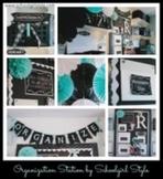 Organization In Style - Ultimate Classroom Organization Kit (Black Chalkboard)