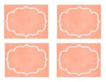 Organization In Style - Ultimate Classroom Organization Kit (Coral Chalkboard)