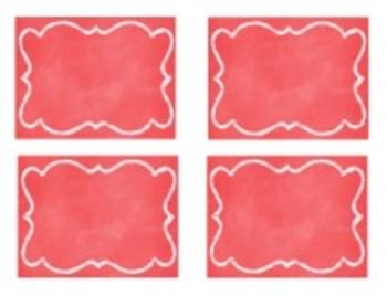 Organization In Style - Ultimate Classroom Organization Kit (Red Chalkboard)