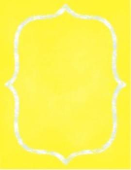 Organization In Style - Ultimate Classroom Organization Kit (Yellow Chalkboard)