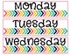Organization Labels: Days of the Week