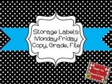 Organization Labels Mon-Fri and Copy, Grade, File