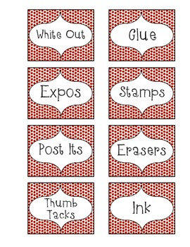 Organization Labels-Red Pebble
