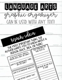 Main Idea Reading Strategy Guiding Worksheet and Graphic Organizer