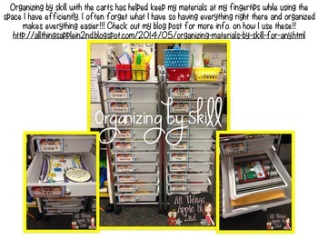 Organization Labels by Skill!! Perfect for carts, folders, tubs, etc.!