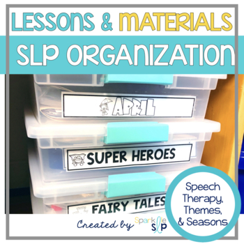 Speech and Language Organization Labels for Therapy Lessons and Themes