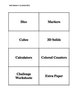 Organization Labels for Math Classroom