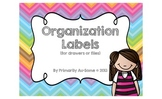 Organization Labels (for folders or drawers) {Freebie}