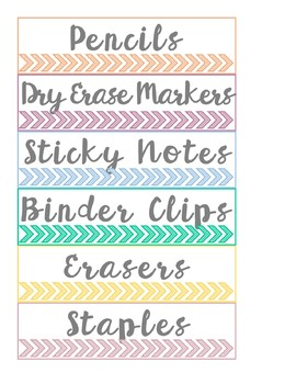 Teacher Toolbox Organization Labels for Small Sterilite Drawers *editable*