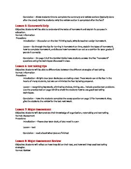 Organization Lesson Plan