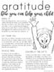 Gratitude Parent Letter