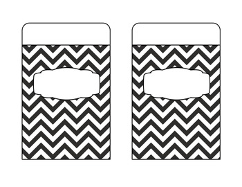 Organization Pockets {Chevron Pattern}