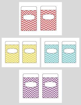 Organization Pockets {Chevron Pattern}