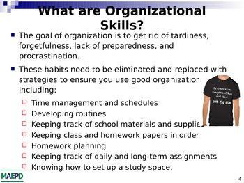 Organization - School Study Skills and Tips