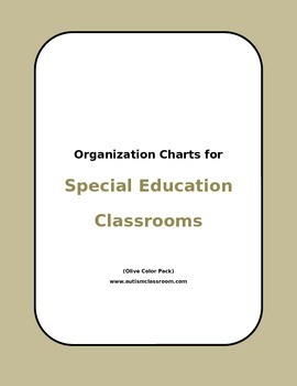 Organization Sheets for Self-Contained Special Education Classrooms (Olive)