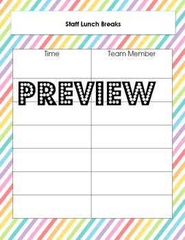 Editable Teacher Binder for Self-Contained Special Education & Autism Classrooms