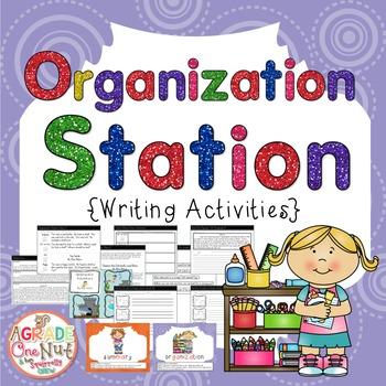 Organization Station {Writing Trait Activities}