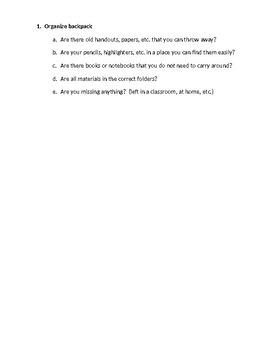 Organization - Study Skills - Academic Skills