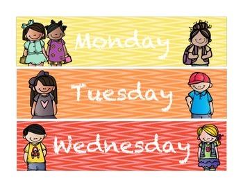 Organization, Subject, & Weekday Drawer Labels