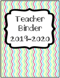 2018 UPDATE Organization: Chevron Teacher Binder with Sub Folder - Edit in Word