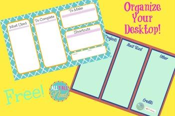 Organization Wallpaper for Desktops {Freebie}