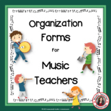 MUSIC: Back to School Organization and Behavior Management Forms - Editable!