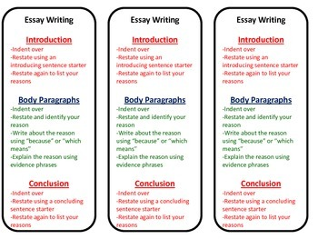 Organization and Word Choice Writing Bookmark - Intermediate Grades