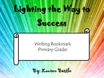 Organization and Word Choice Writing Bookmark - Primary Grades