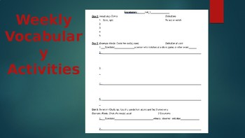 Student Planner Binder w/ Schedules, Vocabulary Template, and Notes