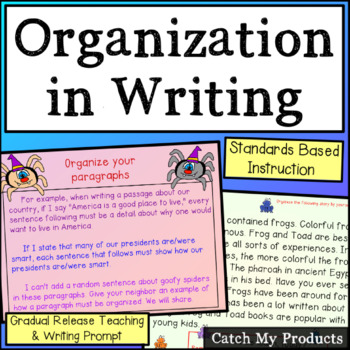Writing Process : Organization in Writing for Promethean B