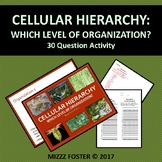 Cellular Hierarchy: Which level of organization of Life? (30 questions)