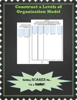 Make a Model of Levels of Organization of Organisms