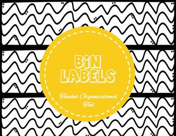 Organizational Bin Labels