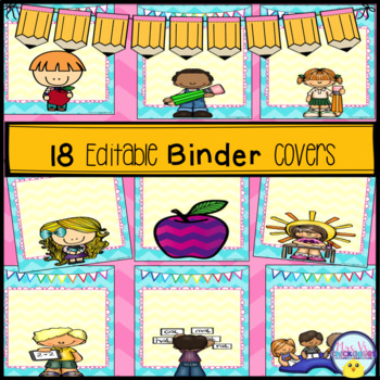Pre-Made & Editable Binder Covers: Organize Materials & Lessons!