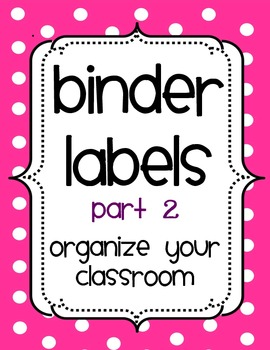 Organizational Binder Covers and Spines- PART 2
