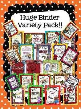 "Organizational Binder ""Mega"" Pack"