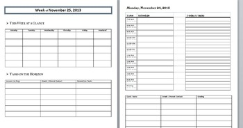 Organizational Binder Planner - Weekly, Unit, Lesson
