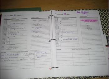 Organizational Binder Planner - Weekly, Unit, Lesson