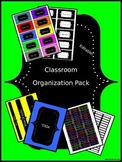 Organizational Classroom Labels: Bright Chalkboard Solids (Editable)