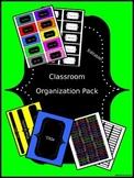 Organizational Classroom Labels: Bright Chalkboard Solids (Editable)