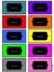 Organizational Classroom Labels: Bright Chalkboard Solids