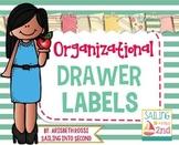 Organizational Drawer Labels {Editable}
